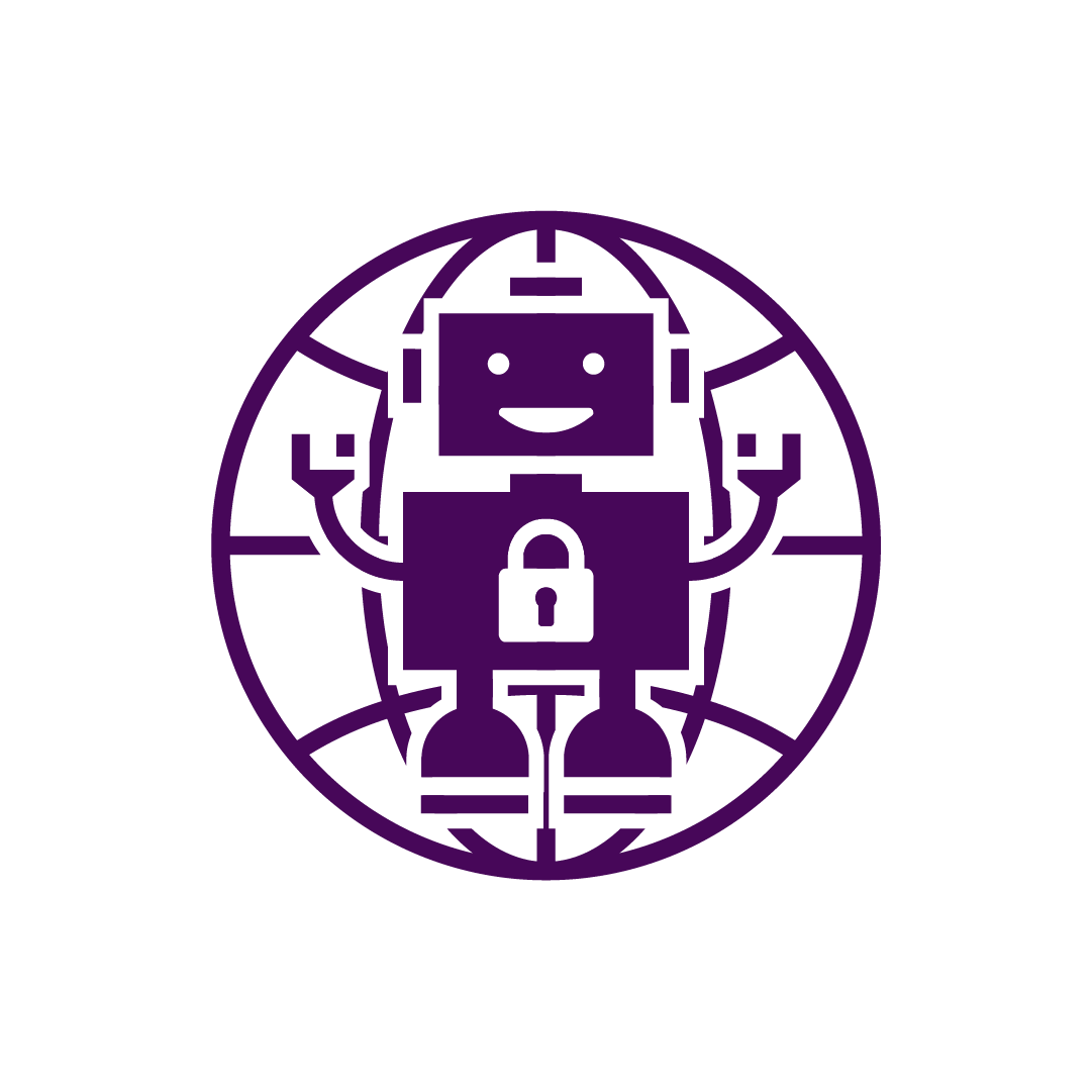 ISAAC- purple with transparent background